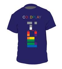 Rare ColdPlay X & Y T-shirt Navy Men Short Sleeve Cotton S-4XL  KL164