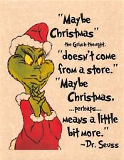 1966 How The Grinch Stole Christmas > Boris Karloff > Dr. Suess > Print