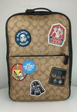 Star Wars X Coach Westway Backpack Book Shoulder Bag in Signature Canvas