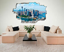 New York Skyline Stadt USA Wandtattoo XXL Wandsticker Aufkleber C430
