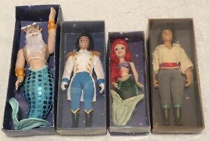 RARE DeAgostini Small Porcelain Disney Little Mermaid Ariel Eric Triton VHTF!