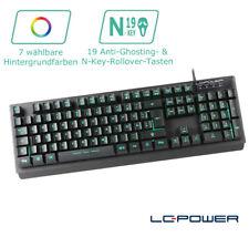 LC-Power - LC-KEY-4B-LED - Beleuchtete USB-LED-Tastatur - 7 Farben - QWERTZ