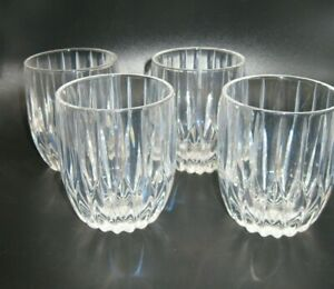 4 Mikasa Crystal Park Lane Double Old Fashioned Glasses
