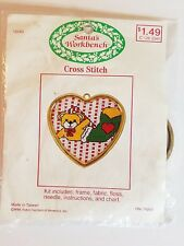 Teddy Bear Cross Stitch Kit / Santa's Workbench 12243 NEW 1988