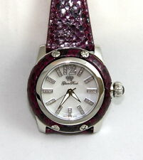 Authentic Glam Rock Palm Beach Women's Watch GR40031 White Diamond VIOLET PYTHON