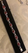 Bracelet Over 23 Grams Sterling Silver Red Turquoise