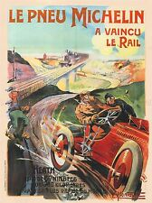 Anuncio de neumáticos Michelin Paris France Vintage Repro de cartel impresión de arte 813pylv