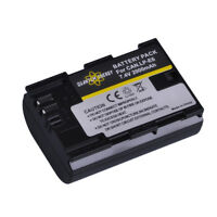 Quantum Energy LP-E6 Battery + Dual USB Charger for Canon EOS 80D, 6D, 7D, 5D