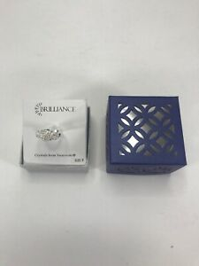 Brilliance Ring Crystals from Swarovski Silver with Clear Stones Size 8  NEW
