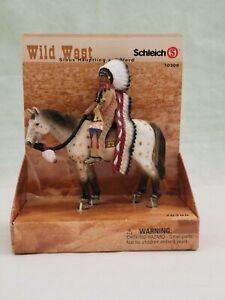 WILD WEST SCHLEICH 70300 VINTAGE RARE SIOUX CHIEF ON HORSE