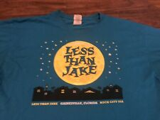 Vintage Late 90s Less Than Jake Ska Punk Band Hello Rockview Tour XL T Shirt