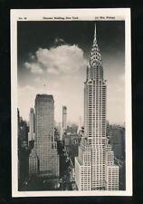 USA NEW YORK CITY Chrysler Building c1920/30s? RP PPC WM Frange #48