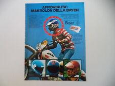 advertising Pubblicità 1980 BAYER e CASCO DIWS GHIBLI e MOTO KTM