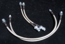 New Stainless Hose Racing  Brake Line 82-89 Porsche 944 FRONT+REAR White