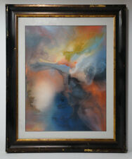 Original Futuristic Abstract Space Painting By Artist Philip Kenton