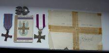 POLISH POLAND WWII MONTE CASSINO VALOR CROSS eagle badge DOC GROUP MEDAL