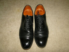 Vintage Men'S Black Leather Dress Shoes Cap Toe Florsheim Sz 12 D