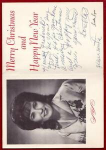 LORETTA LYNN ORIGINAL AUTOGRAPH SIGNED PHOTO CHRISTMAS CARD