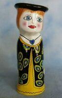 "Bella Casa Susan Paley By Ganz ""Arlene"" Large Ceramic Vase Hand Painted 10"" Tall"