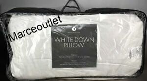 Hotel Collection White Down 400 Thread Count TWO KING Pillows Medium Support