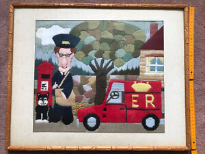 Postman Pat Tapestry in 52 X 42 cm Frame ecelent condition