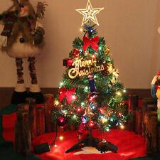 Mini Weihnachtsbaum Tannenbaum Geschmückt mit LED Lichterkette Dekoration