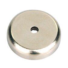 Neodym Magnet mit Chromblende, ca. 38 mm, superstark bis zu 40 KG Rundmagnet Neu