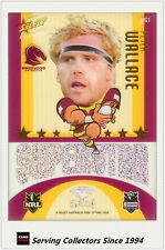 2009 Select NRL Champions Superstar Acetate Mascot Gem Card MG1 Peter Wallace