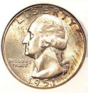 1951 Washington Quarter 25C - Certified NGC MS67 - Rare in MS67 - $325 Value!