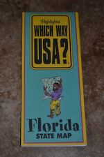 """Highlights Which Way Usa? Florida State Map """"Vgc"""""""