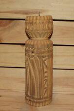 Vintage hand carving wood candle holder