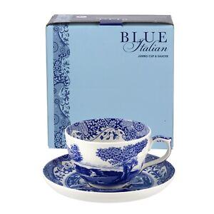 Spode Blue Italian Fine Porcelain Jumbo Cup and Saucer, 20 Ounces - Blue/White