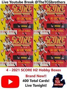 Los Angeles Chargers Break 316B 4x Score H2 Hybrid Hobby Box Football 2021 PRIZM