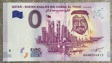 Billet souvenir touristique 0 zero euro 2019 SHEIKH KHALIFA BIN HAMAD AL THANI