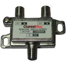 CHANNEL PLUS 2532 TV Splitter/Combiner (2 way), 1 GHz bandwidth