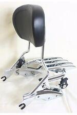 4 Point Docking Chrome Stealth Luggage Rack Sissy Bar Backrest Harley Davidson