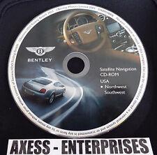 04 05 06 Bentley Continental GT Flying Spur Navigation CD Map # 2 Southwest U.S