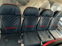 Authentic 747-400 Aircraft Row of 4 Airline Comfort Seats