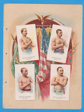 1887 A17 Allen & Ginter World's Champions ser. 2 album page Boxing w/ EDWARDS, M
