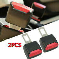 2X Universal Car Seat Belt Buckle Clip Extension Extender Safety Stopper Plug