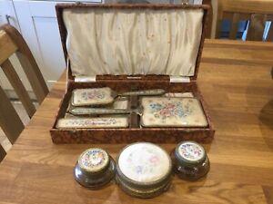 Vintage Petit Point Dressing Table Set