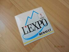 auto collant RENAULT L'EXPO JO 92 Albertville d'époque
