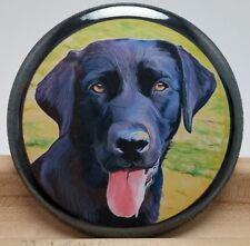 Pocket Hand Make-up Mirror 2.25 in Dog Lover - Black Labrador Retriever