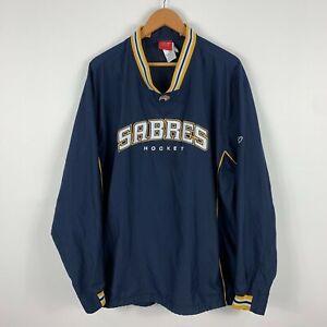 Reebok Sabres Hockey Jersey Jacket Mens 2XL Long Sleeve Pullover