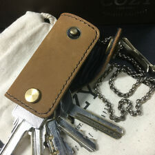 Tanned Nubuck Leather Key Holder, Holds Up to 6-7 Regular Keys