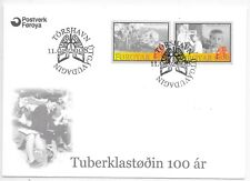 FAROE ISLANDS F.D.C. 11/2/2008 SG 559/60 CENTENARY OF T.B. SANITORIUM,HOYDALAR.