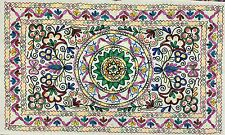 Decoración De Pared Indio Algodón Kashmiri Lana Bordado Hecho a mano Suzani
