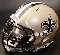 *CUSTOM* NEW ORLEANS SAINTS NFL Riddell Full Size SPEED Football Helmet