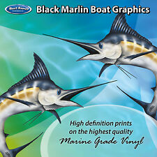 Black Marlin Graphics - set of 250mm Boat Graphics