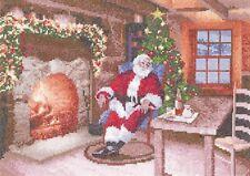 Heritage Crafts JCSD1485 Santa's Job Done Cross Stitch Kit by John Clayton